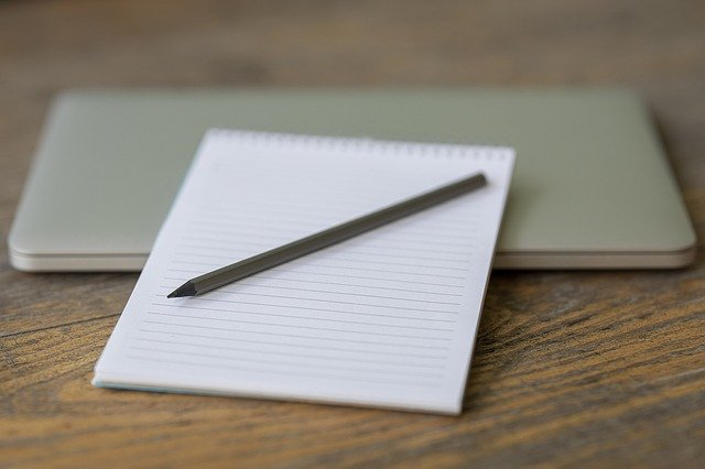 Notebook Pen Laptop White Page